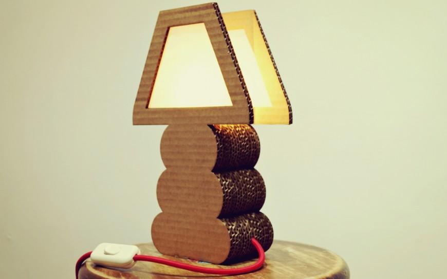 может как сделать из коробки светильник фото способ подразумевает