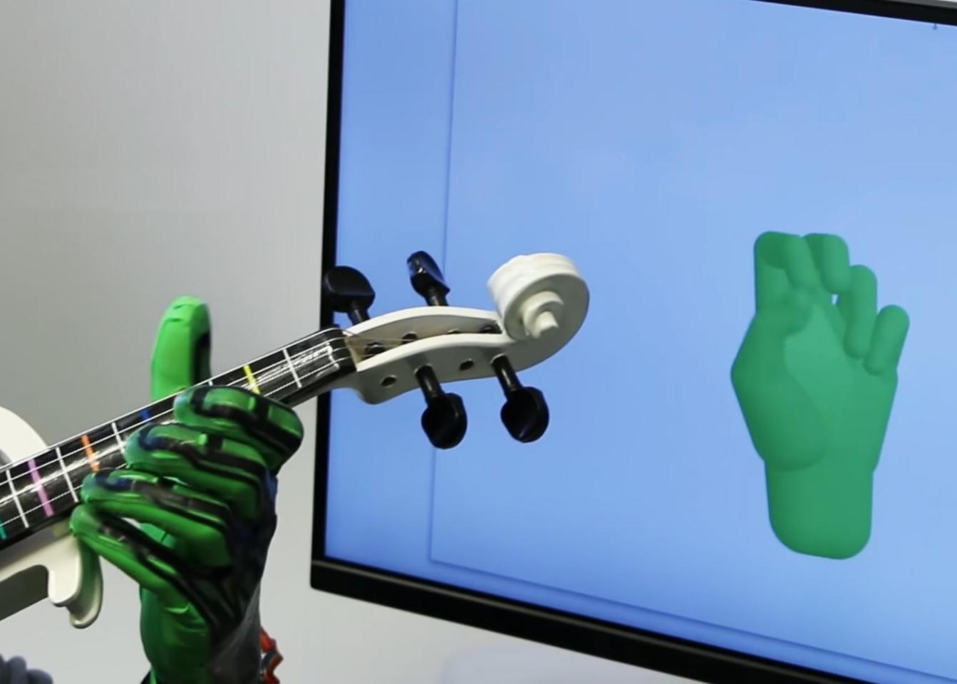 The glove can recognize hand gestures in low light and even when the hand is holding an object