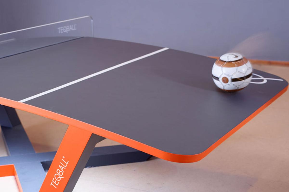 Teqball focuses your football skills onto a specialized table