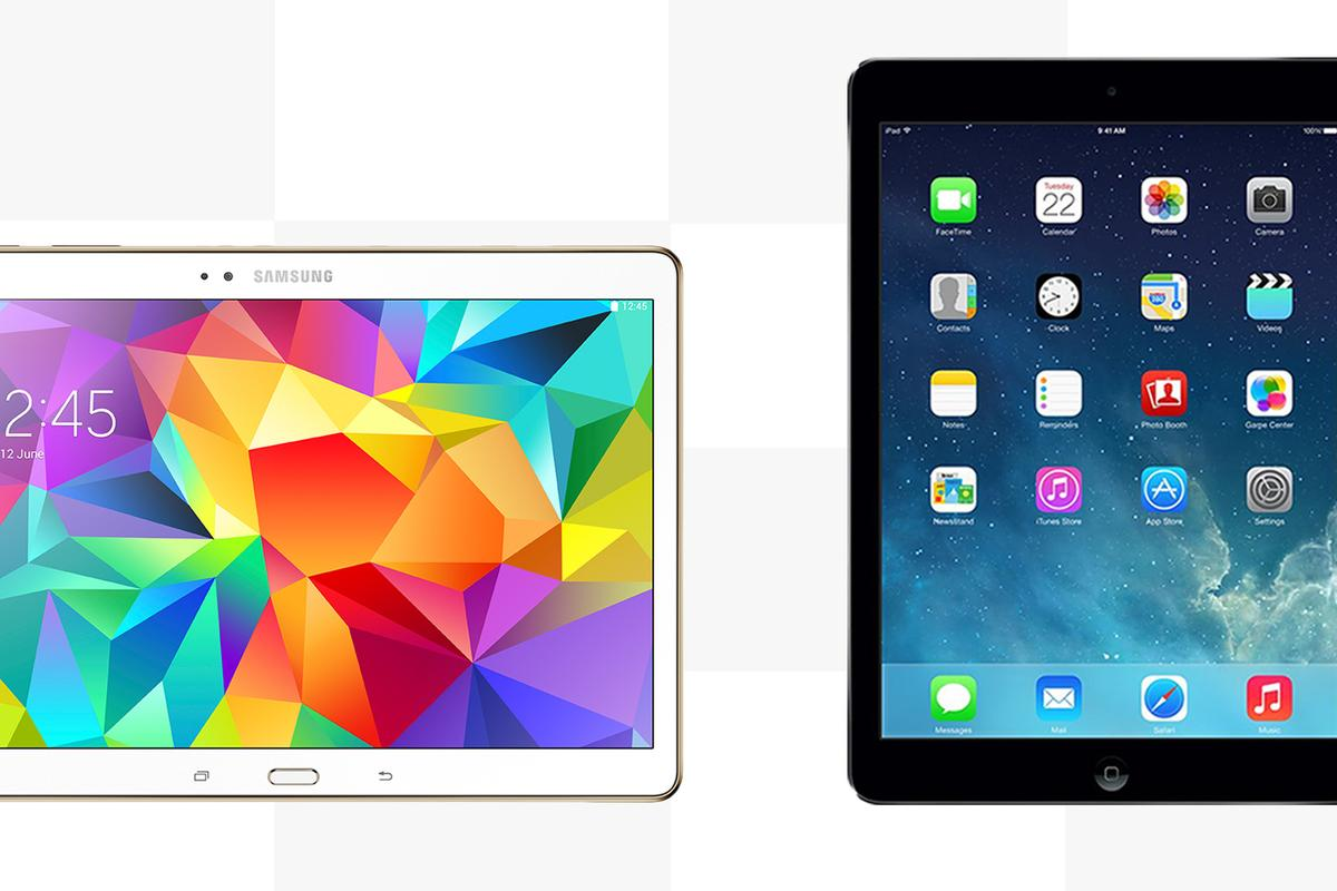 Gizmag compares the features and specs of the Samsung Galaxy Tab S 10.5 and Apple iPad Air