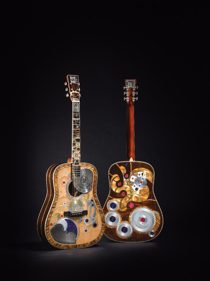 Created in partnership with Pennsylvania's RGM Watch Co, the body of the one-off custom has been based on the company's D-45 acoustic