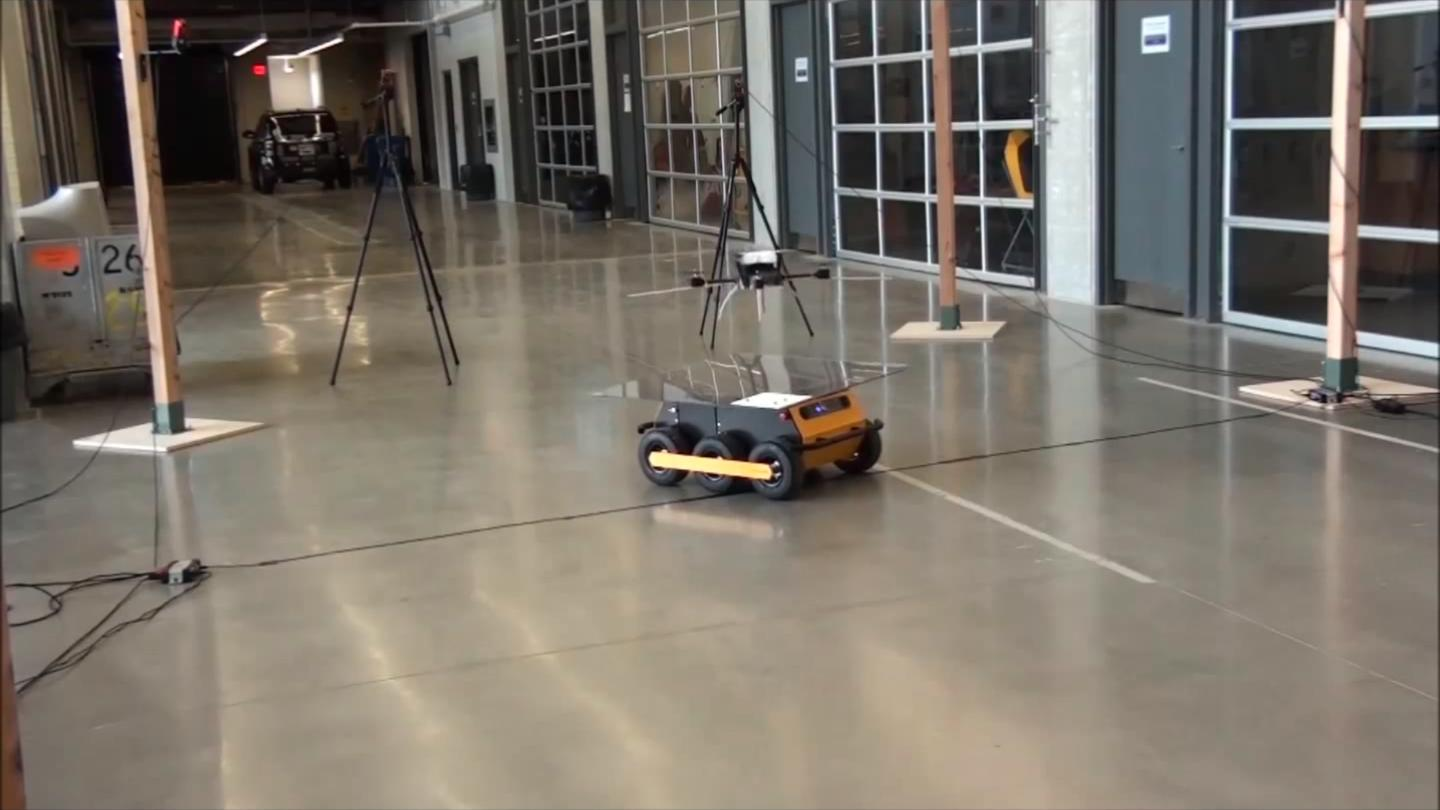 Researchers have successfully paired a drone with a unmanned ground vehicle, enabling it to land autonomously on the ground vehicle