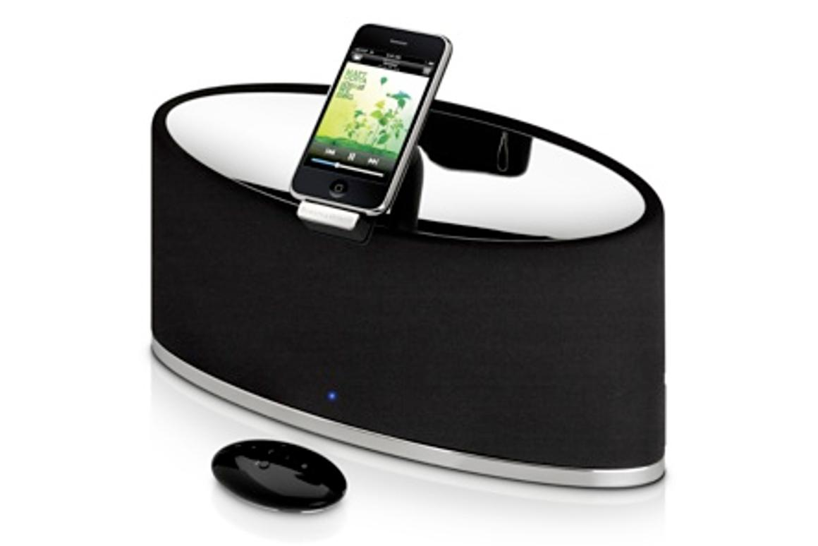 The Bowers and Wilkins Zeppelin Mini iPod speaker system ... same big features as the larger Zeppelin but a much smaller size
