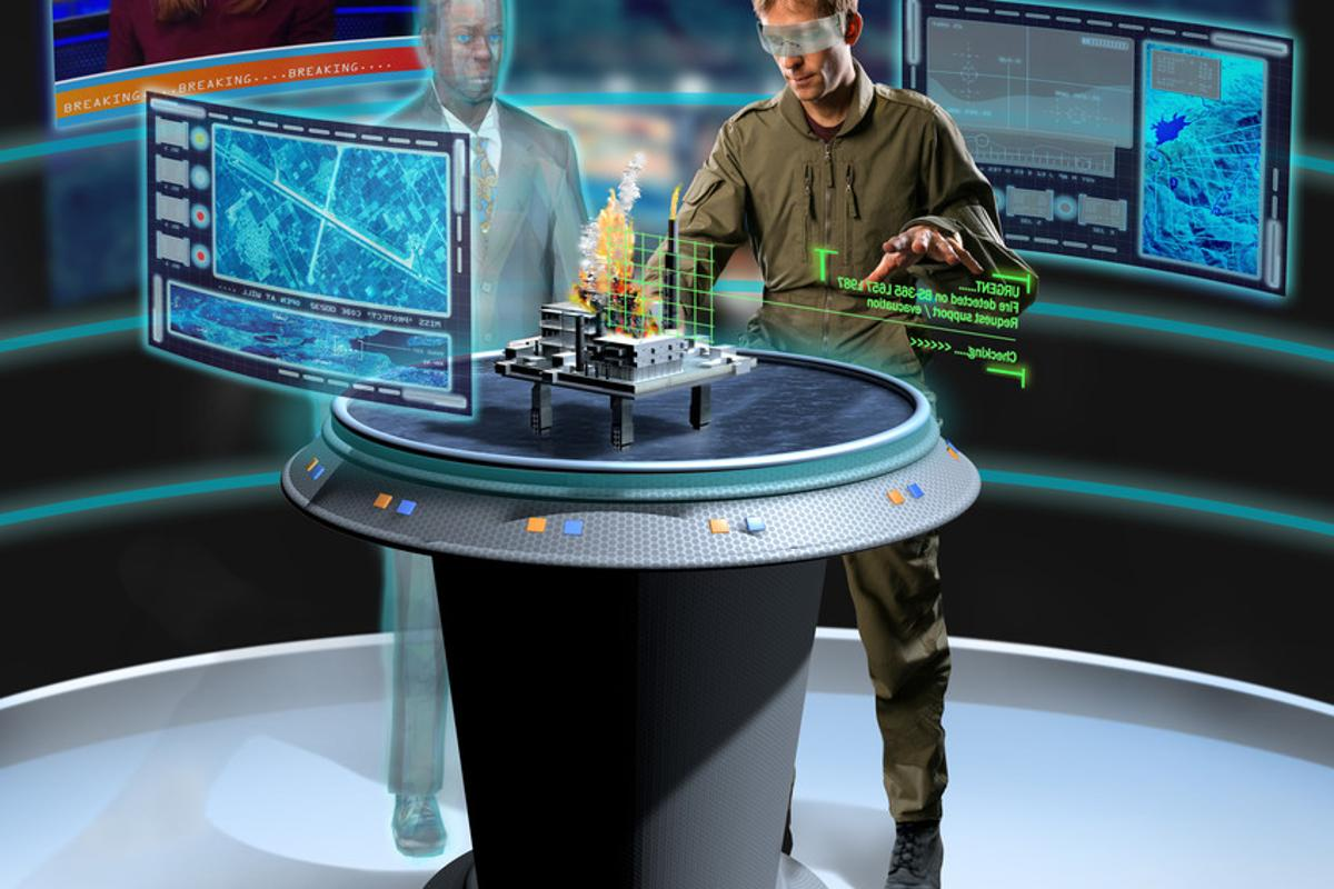 Artist's impression of the Portable Command Centre in action