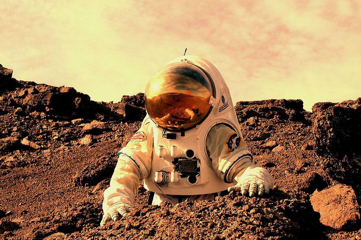 Future explorers of Mars could receive visual cues to reveal nearby hazards