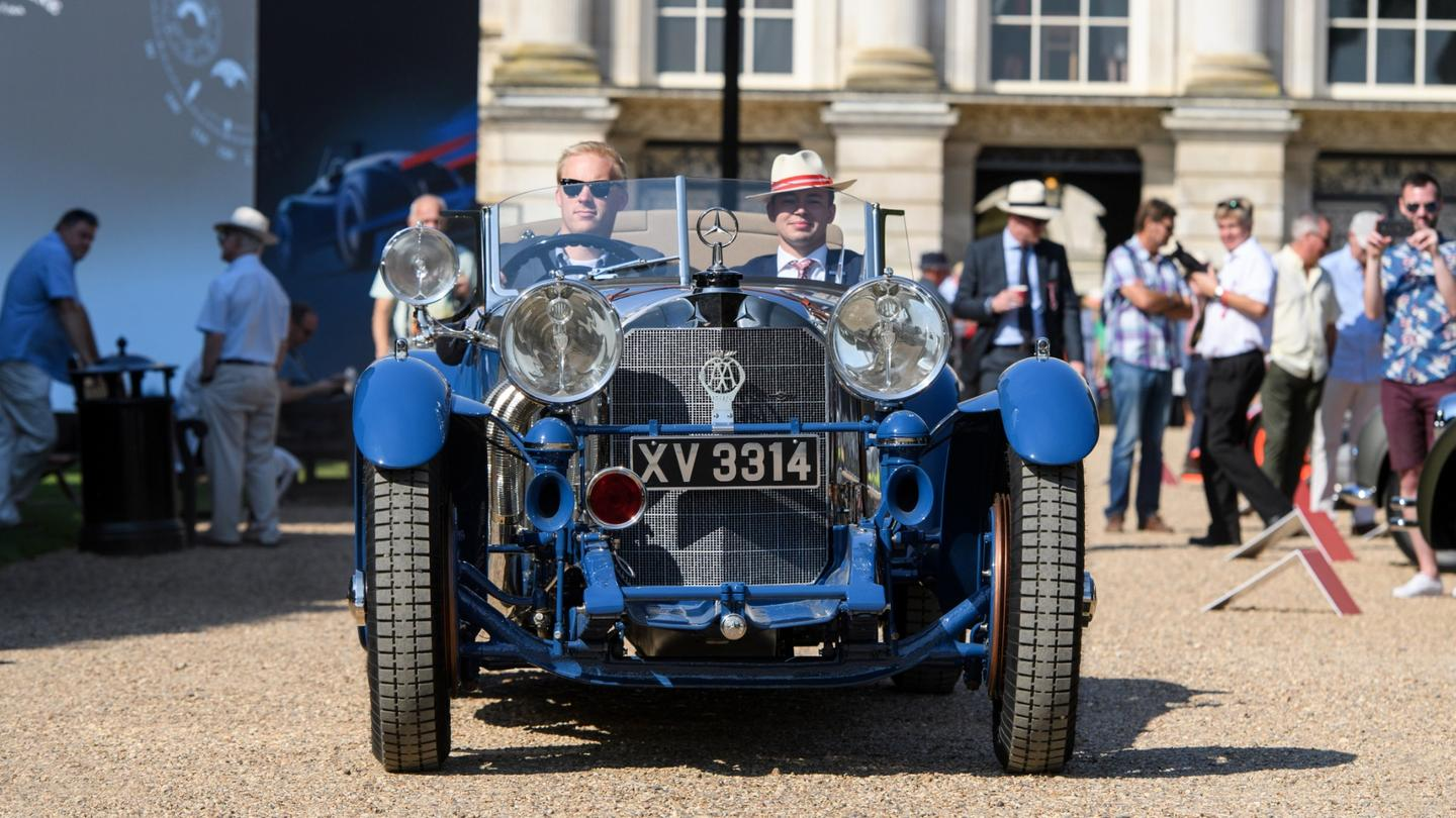 This 1929 Mercedes-Benz S-Type Barker 'Boat Tail' was built forFrancis Curzon, the 5th Earl Howe, founder and President of the British racing Drivers' Club, Member of Parliament and six time competitor at Le Mans, with an outright win (1931) and a class win (1930) to his credit. In later life, the car spent time under the custodianship of Tony Hulman, the owner of the Indianapolis Motor Speedway.