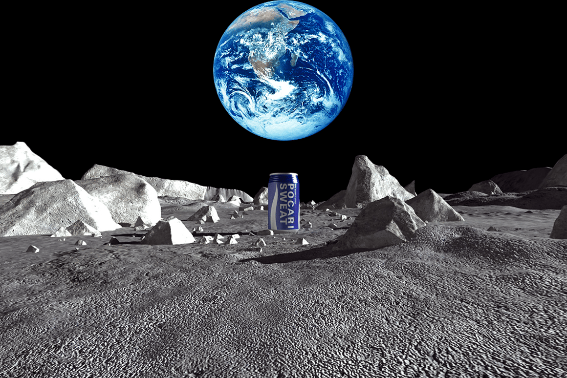 Pocari Sweat plans to land the first commercial sports drink on the Moon in the form of a time capsule