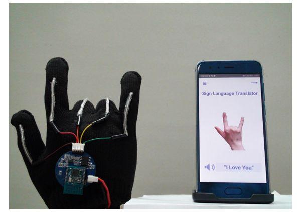 Wearable technology from UCLA researchers offers a compact and wireless glove that translates sign language into audio speech