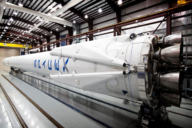 The Falcon 9 booster