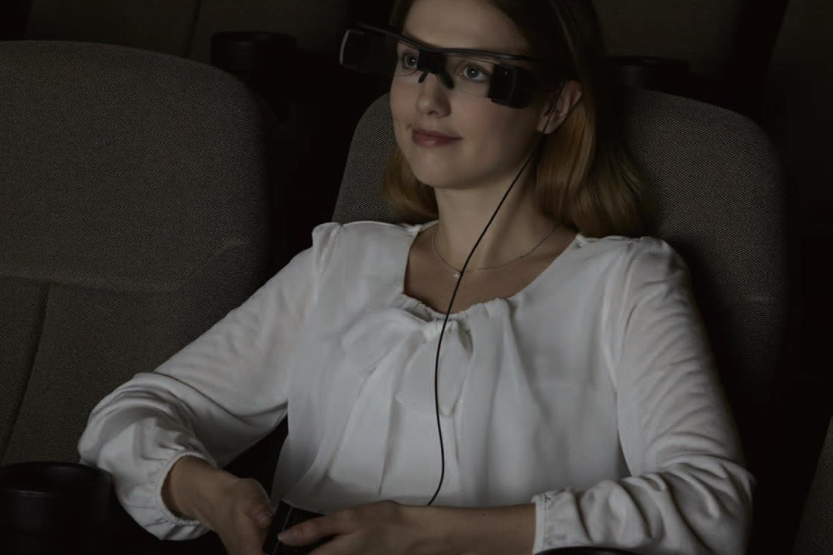 With Sony's Entertainment Access Glasses, the hearing impaired can see private closed captions projected right in front of their eyes in movie theaters