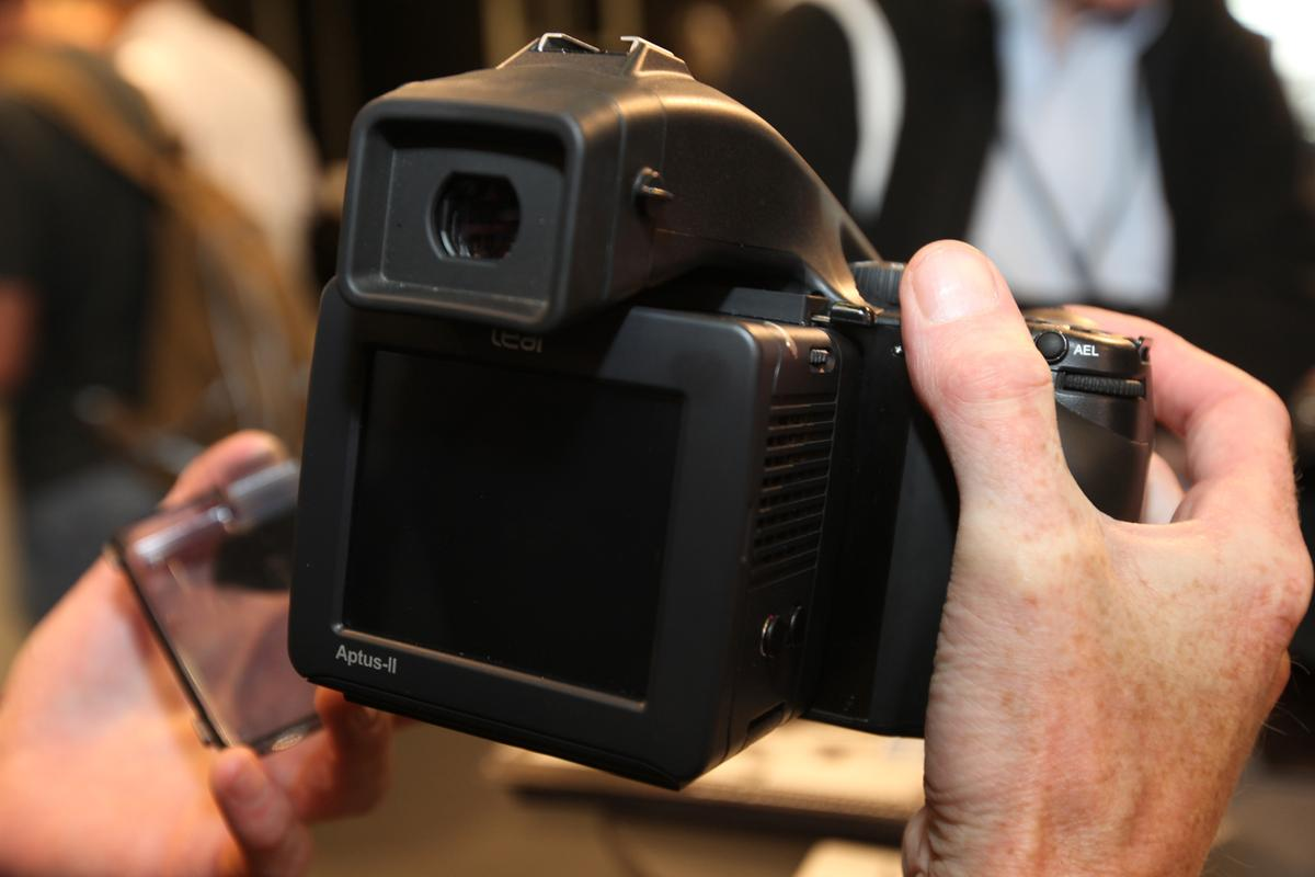 Leaf Aptus-II on the Phase One 645DF camera at Photokina 2010