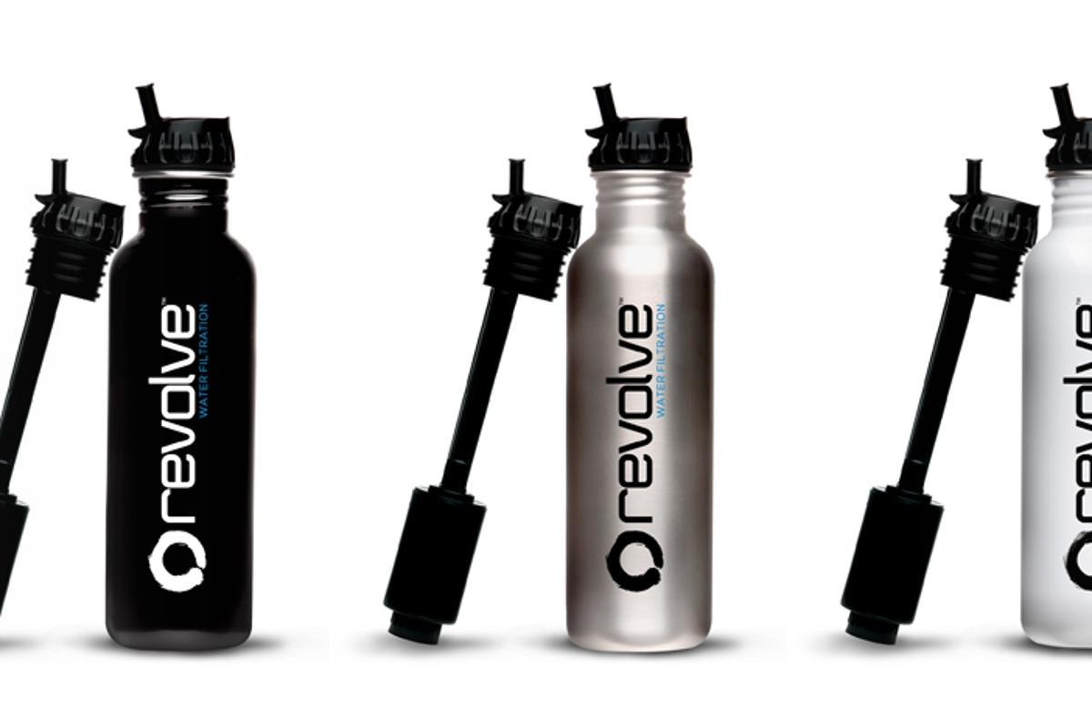 The Revolve tap water filter bottle