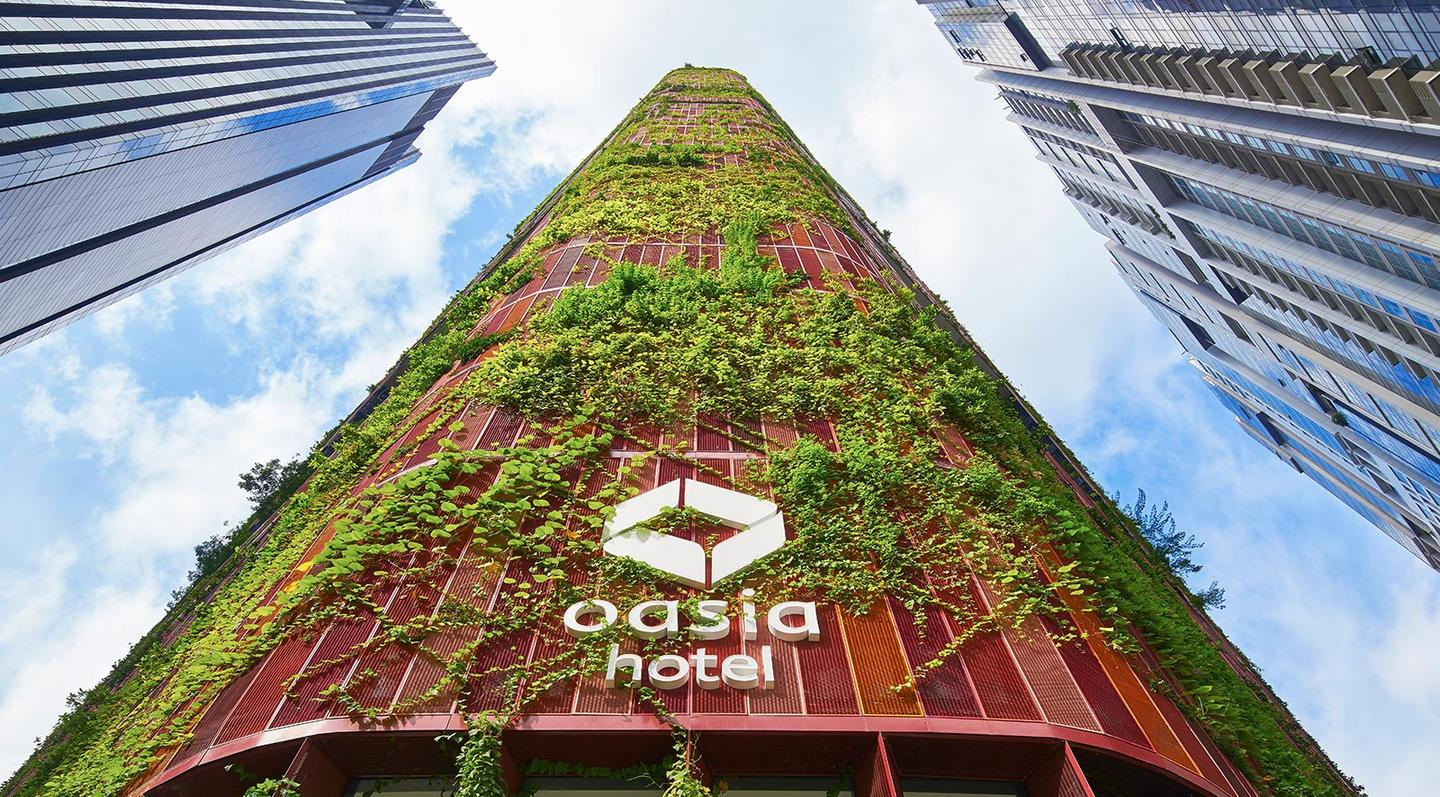 """The Oasia Hotel Downtown in Singapore has been named 2018's """"Best Tall Building Worldwide"""" by the Council on Tall Buildings and Urban Habitat"""