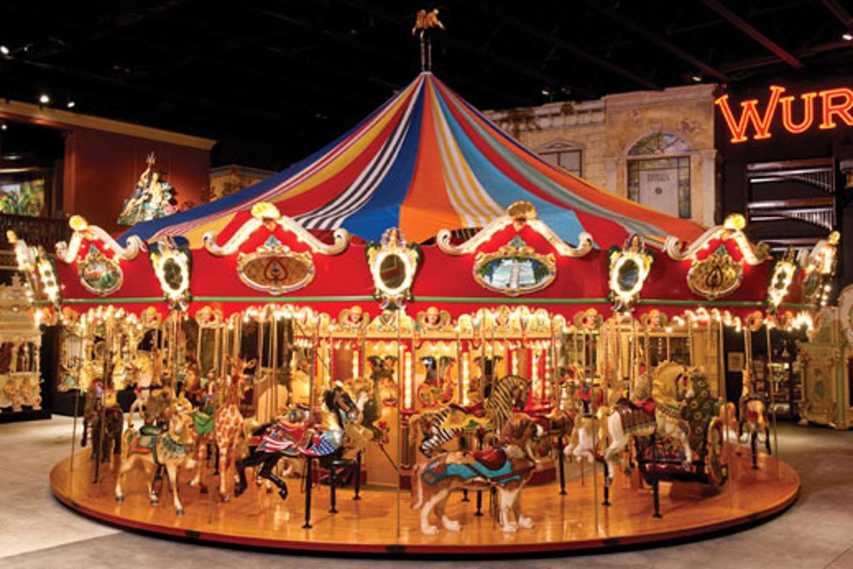 This 46-Foot Custom Carousel with 42 animals, 2 chariots and a Wurlitzer 153 Band Organ is expected to bring US$1-1.5m as part of the Milhous Collection auction