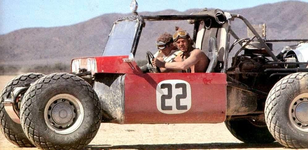 Steve McQueen drives the original Baja Boot, now owned by James Glickenhaus