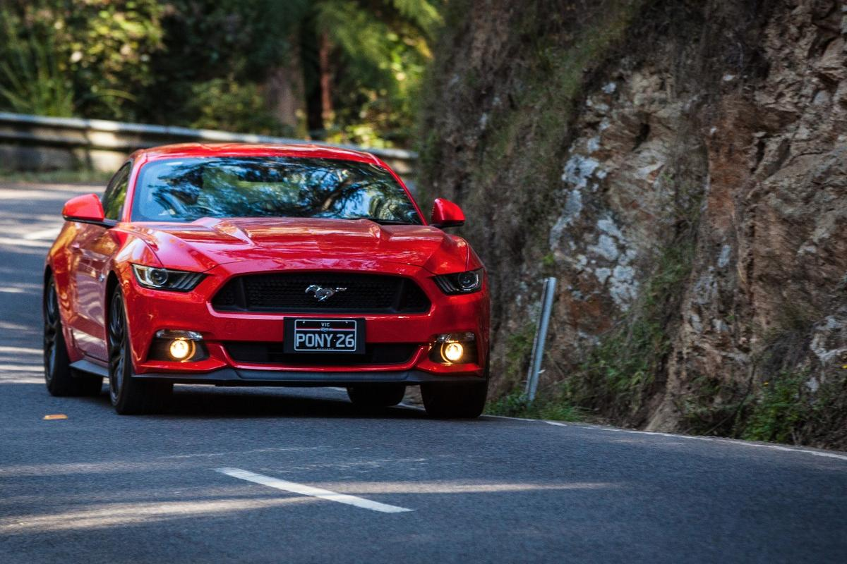 On the highway is where the Mustang is most comfortable, although it can handle itself in the twisties as well