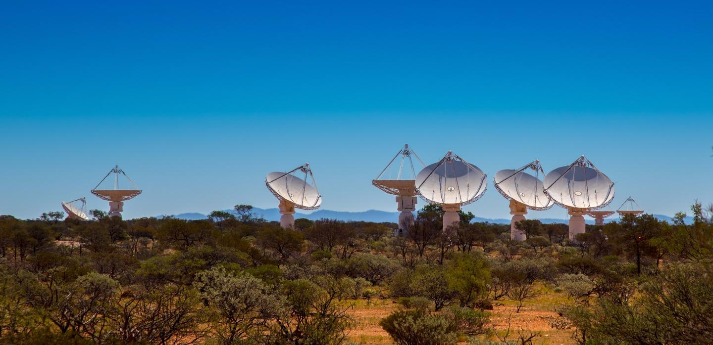 Some of the dishes that make up the ASKAP radio telescope