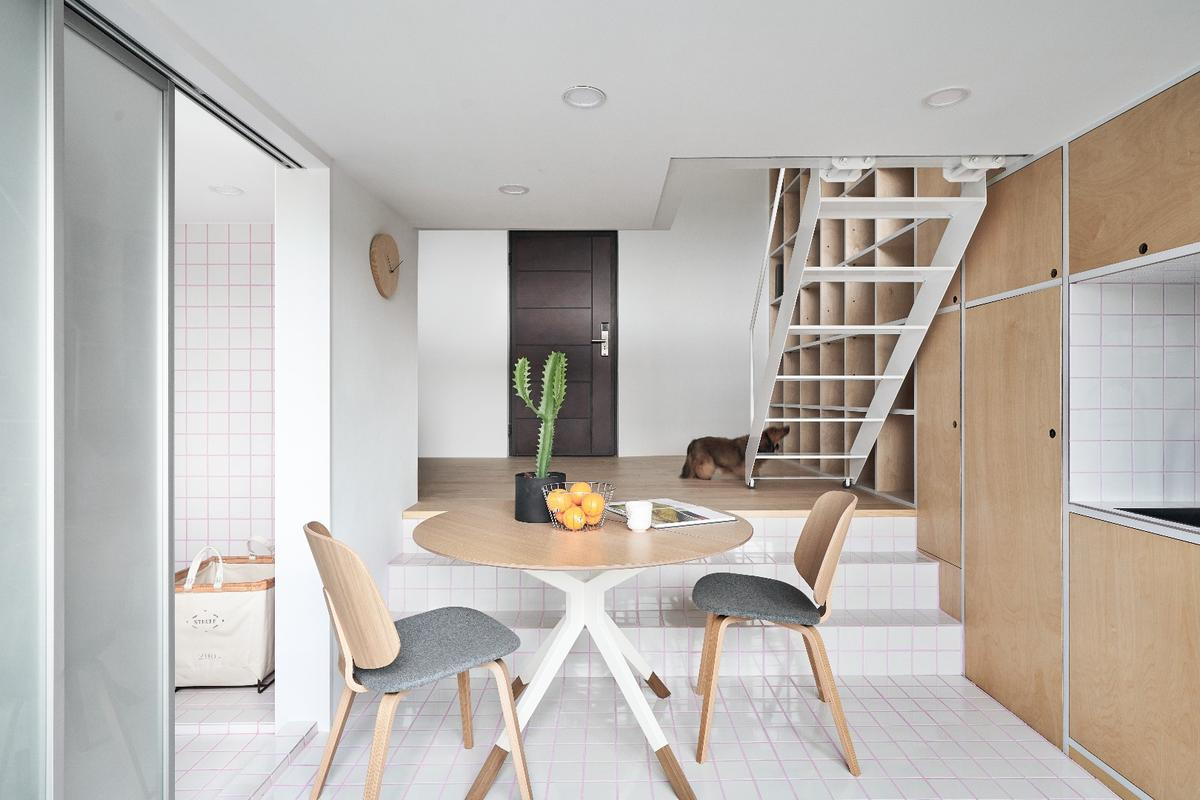 The Muzha Micro Flat is a 33-sq m (335-sq ft) unit in the Muzha district of Taipei