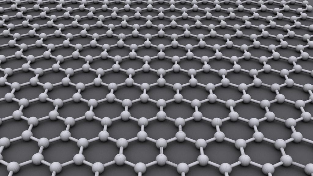 Graphene is a one-atom-thick gauze of carbon atoms resembling chicken wire (Image: AlexanderAlUS via Wikipedia)