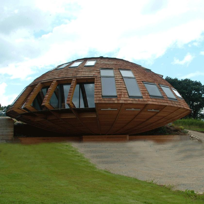 Awe Inspiring The Ufo Like Domespace Rotating Wooden House Download Free Architecture Designs Xerocsunscenecom
