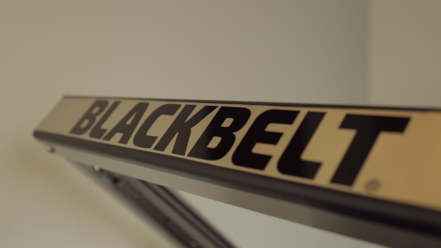 The BlackBelt 3D printer is constructed using aluminum and steel