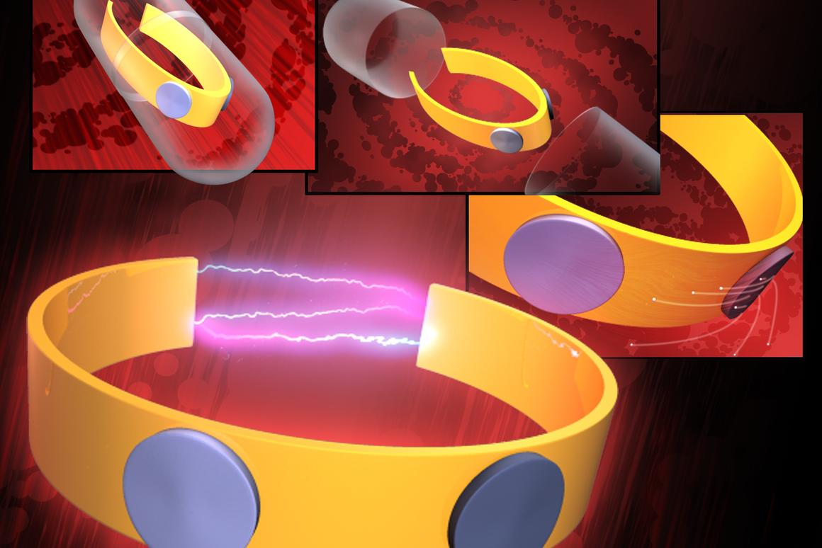 An illustration of the edible micro-battery, that could power ingestible medical devices