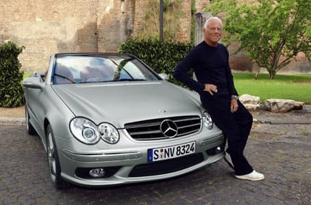 The CLK-Class Cabriolet and designer Giorgio Armani