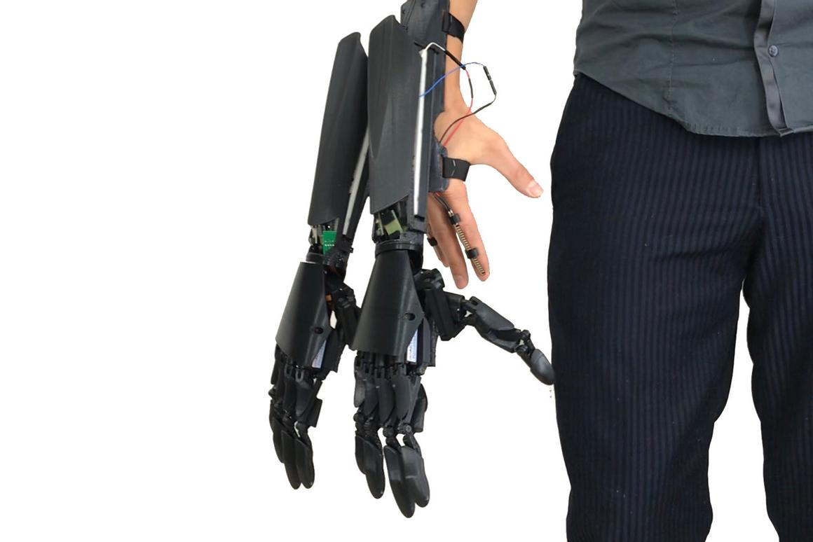 "The Double Hand has been created to ""turn the Native Human to Augmented Human"""