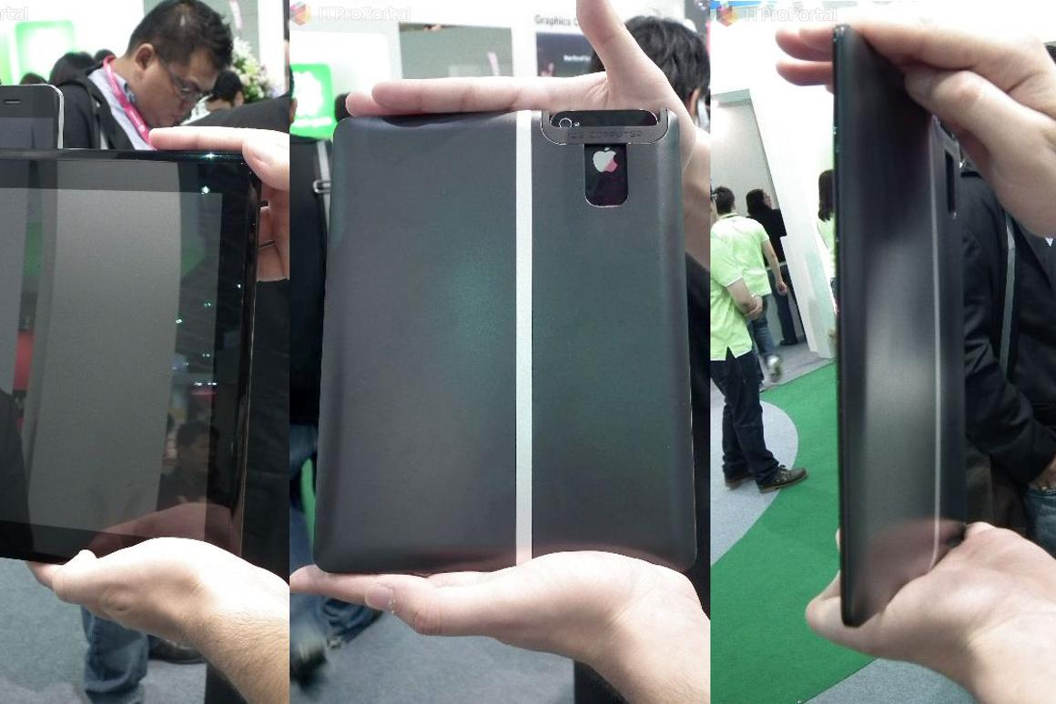 ICE Computer has shown a tablet-sized device that can dock an smartphones and display its contents on a 9.7-inch screen