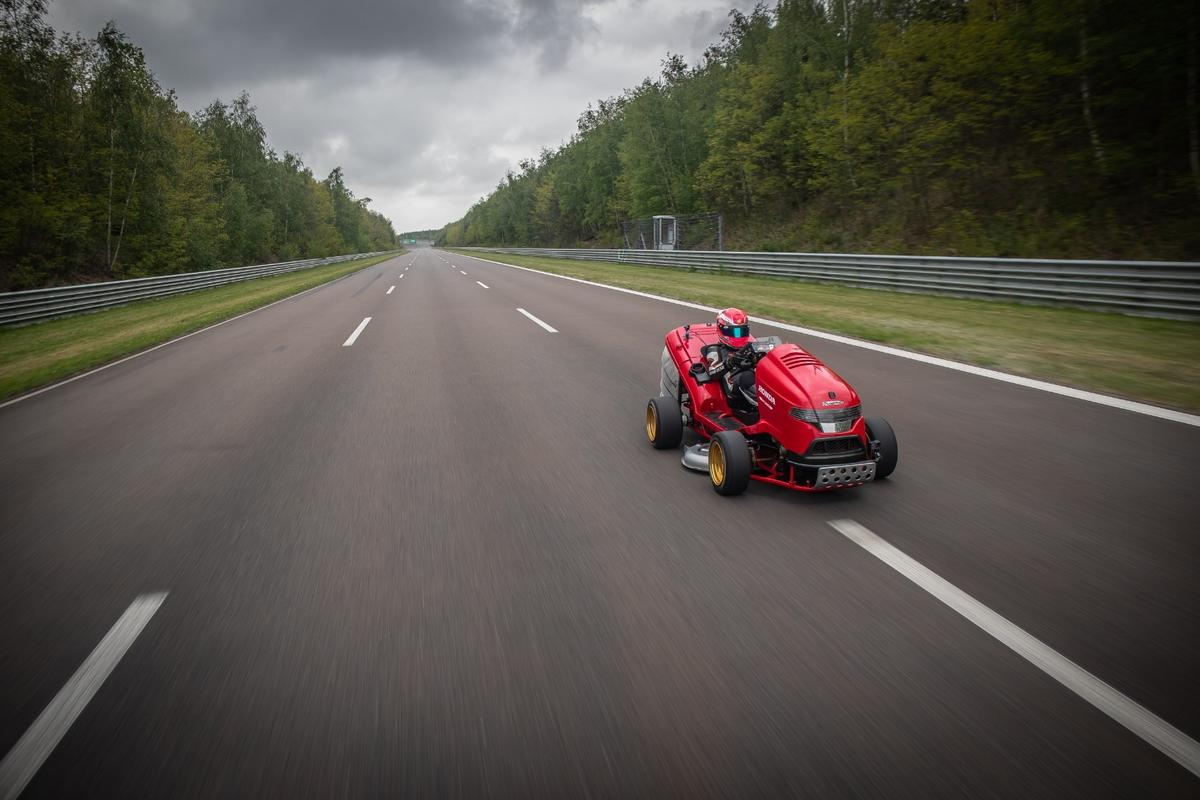 Honda claims the Mean Mower V2 broke the 150-mph mark, which would be fast enough for a world record. But it's not claiming that record. What happened? We may never know