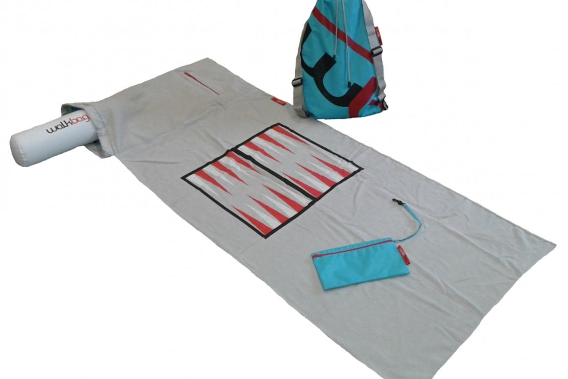 Backpack and towel combine into the WalkBag