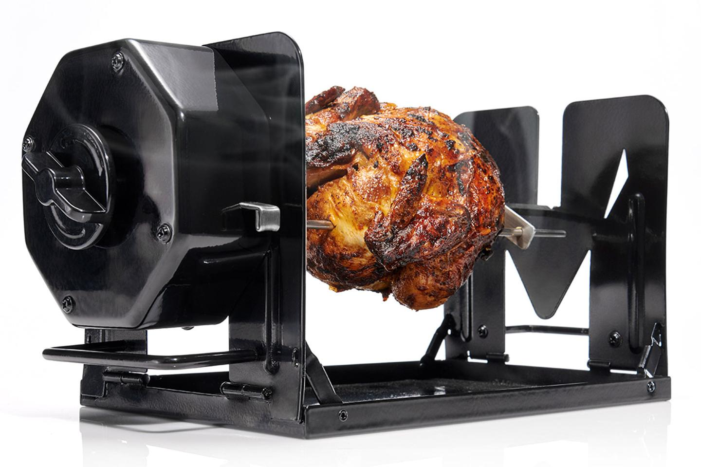 The ROTO-Q 360 is the world's first non-electric self-rotating rotisserie
