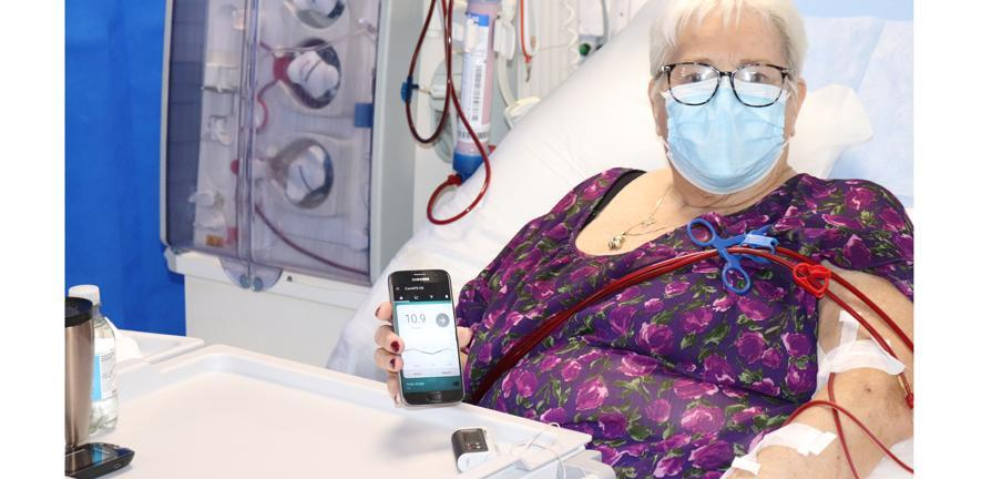 A patient using the artificial pancreas