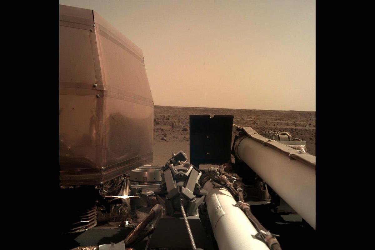 Self-portrait taken by the InSight lander