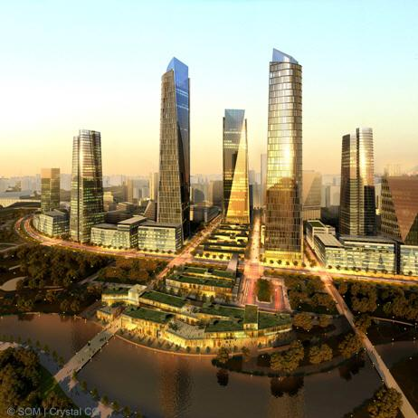 """SOM's vision for the creation of a sustainable """"gateway to the City"""""""