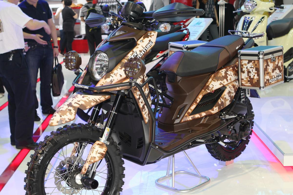 The Yamaha TTX Adventure scooter