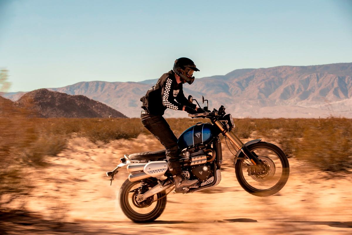 Triumph seems to expect buyers of its new Scrambler 1200s to get out into the dirt and give them a hiding