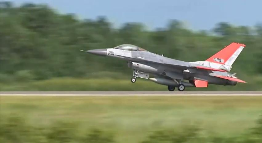 The unmanned QF-16 taking off in Florida