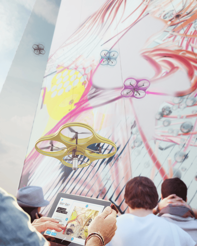 These app-controlled graffiti drones are designed to add color to the many bare walls across cities