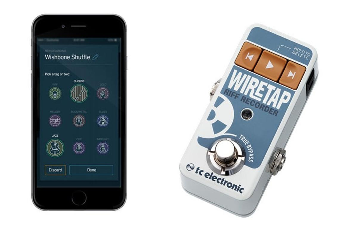 The Wiretap Riff Recorder and app help you capture killer fret action whenever inspiration hits