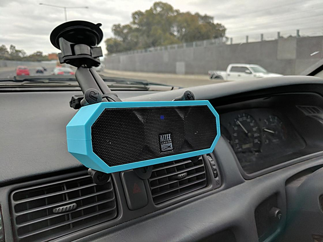 Altec Lansing Jacket H2O: we've been using it in the car, since our ancient stereo doesn't have Bluetooth