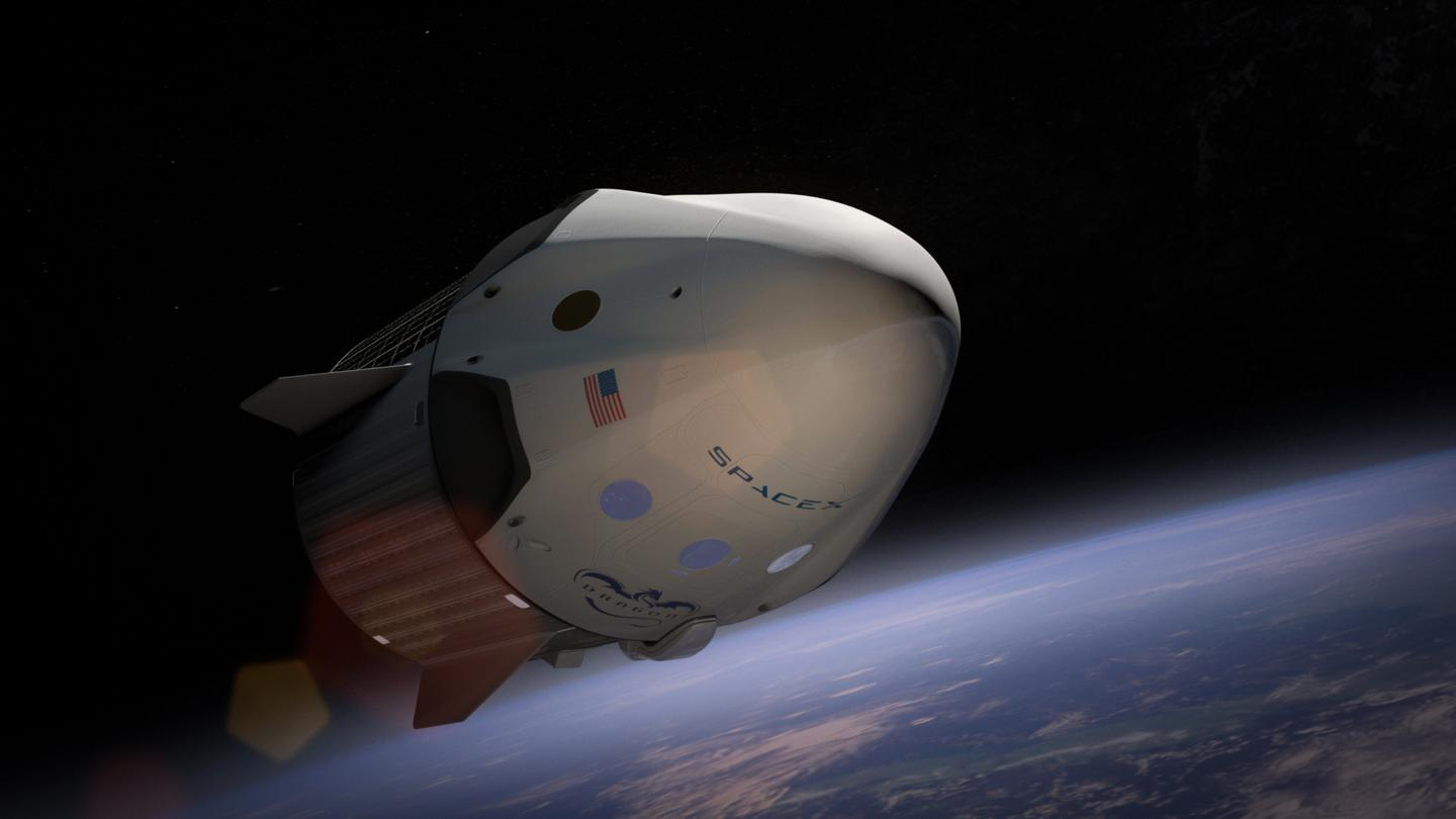 Artist's concept of the new SpaceX Dragon, which may one day fly from Brownsville, Texas (Image: SpaceX)