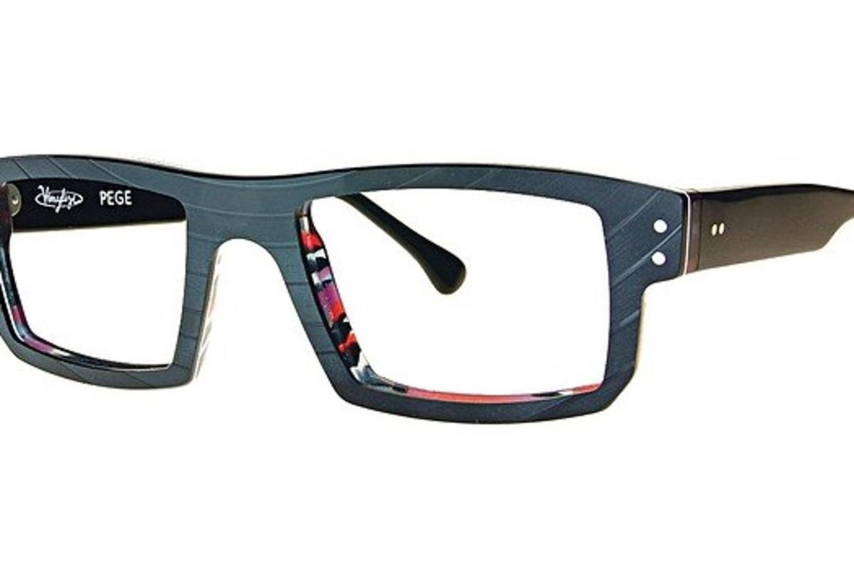 The Pege model of Vinylize glasses, made from old records bonded with cellulose acetate