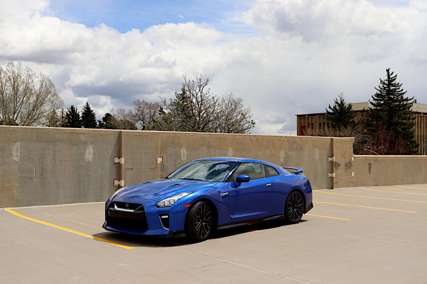 The 2021 Nissan GT-R we drove came in Bayside Blue, a direct throwback to the 1990s GT-R that made this car's name