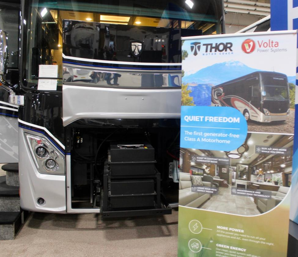 Thor and Volta Power Systems present what they call the first generator-free Class A motorhome