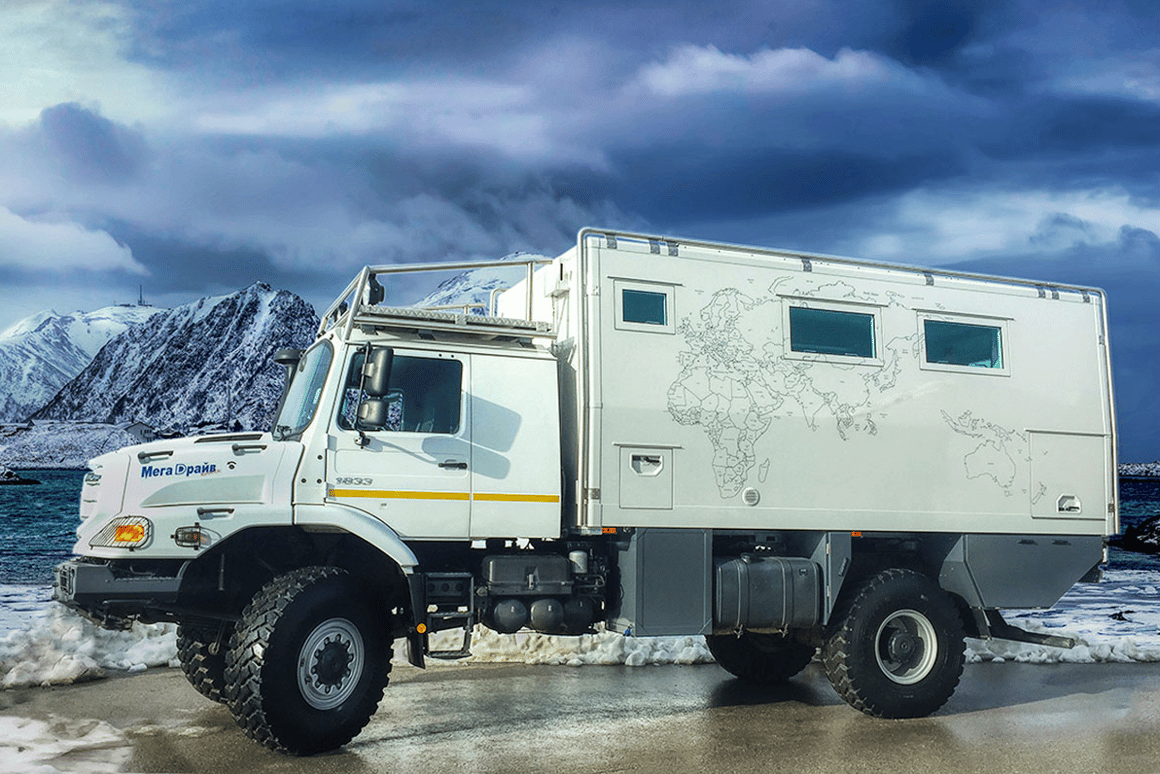 Action Mobil Zetros luxury motorhome roams wild in extreme