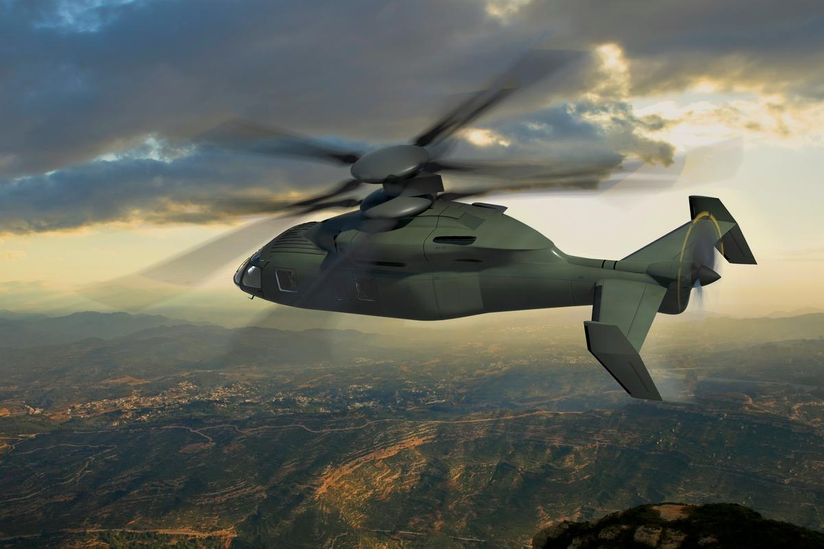 Artist's rendering of the JMR-FVL concept aircraft proposed by Boeing and Sikorsky