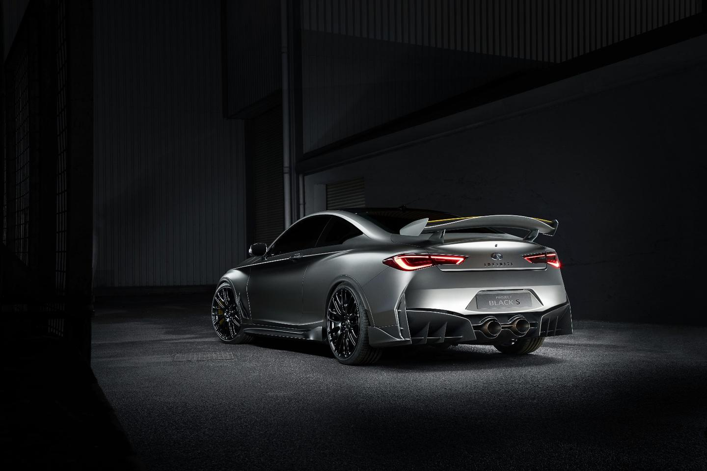 The rear wing on the Project BlackS doesn't hint at its potential, itshouts about it