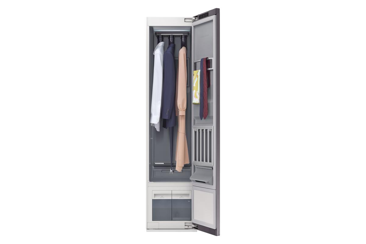 The AirDresser has room for three jackets and three pairs of pants per cycle
