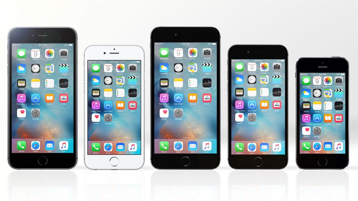 Gizmag compares the features and specs of the five iPhones Apple is now selling (from left to right): iPhone 6s Plus, iPhone 6s, iPhone 6 Plus, iPhone 6 and iPhone 5s